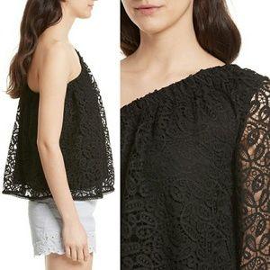 346df7d8452cfa Rebecca Minkoff Tops - EUC Rebecca Minkoff one-shoulder lace top